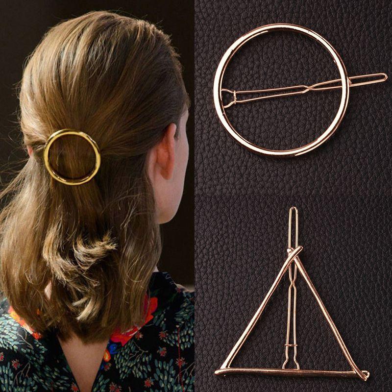 AIWGX Europe et en Amérique Du Motif Géométrique En Métal Clip Tête En Épingle À Cheveux Ornements Cheveux Accessoires
