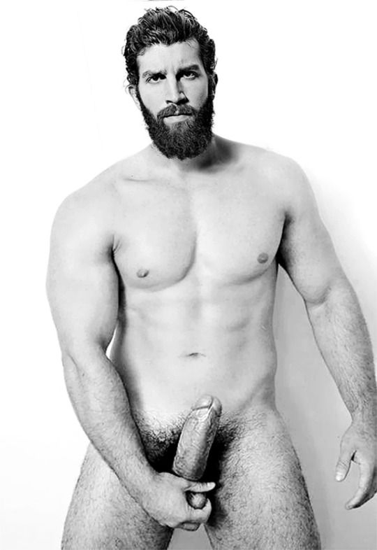 Naked bearded men