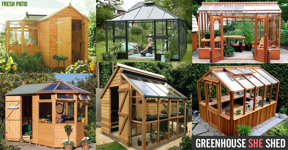 Greenhouse She Shed 22 Awesome Diy Kit Ideas Greenhouse Shed