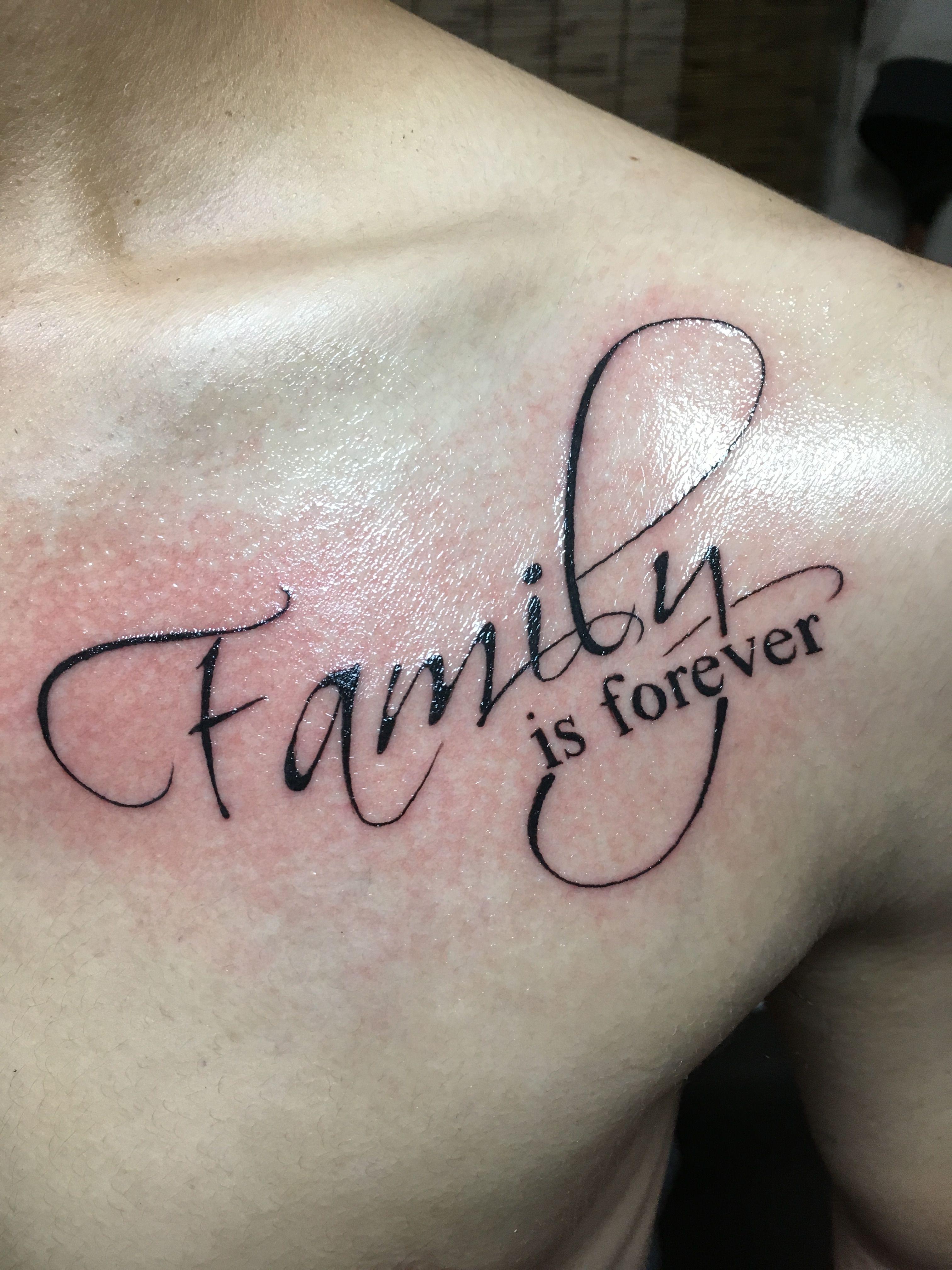 Family is forever Hình xăm, Tatoo, Xăm