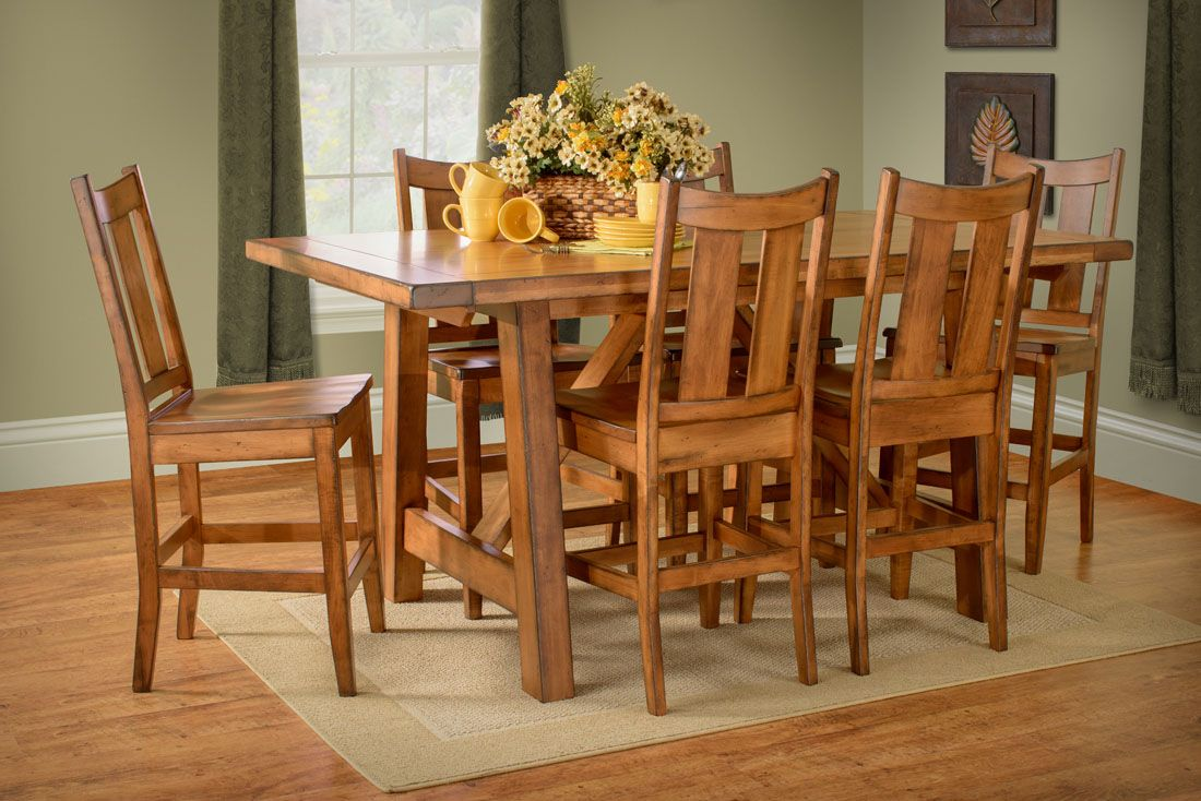 Handcrafted Maple Furniture  Aspen Dining Table And Chair Set  Http://www