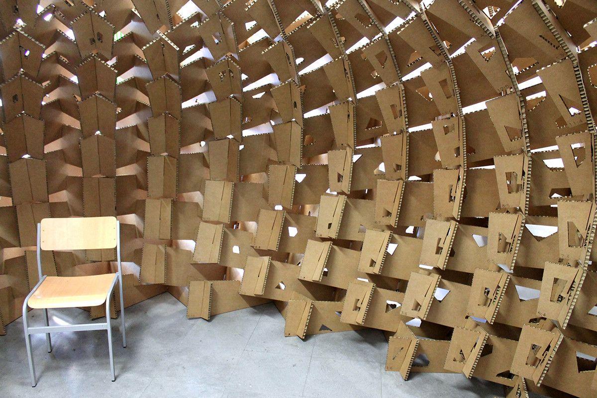 Galer a de pa s vasco estudiantes construyen pabell n de cart n en base al dise o param trico - Arquitectura pais vasco ...