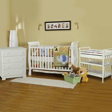 DaVinci Jamie 3 Piece Nursery Set   4 In 1 Convertible Crib, Emily Changing  Table And Kalani 4 Drawer Dresser In White