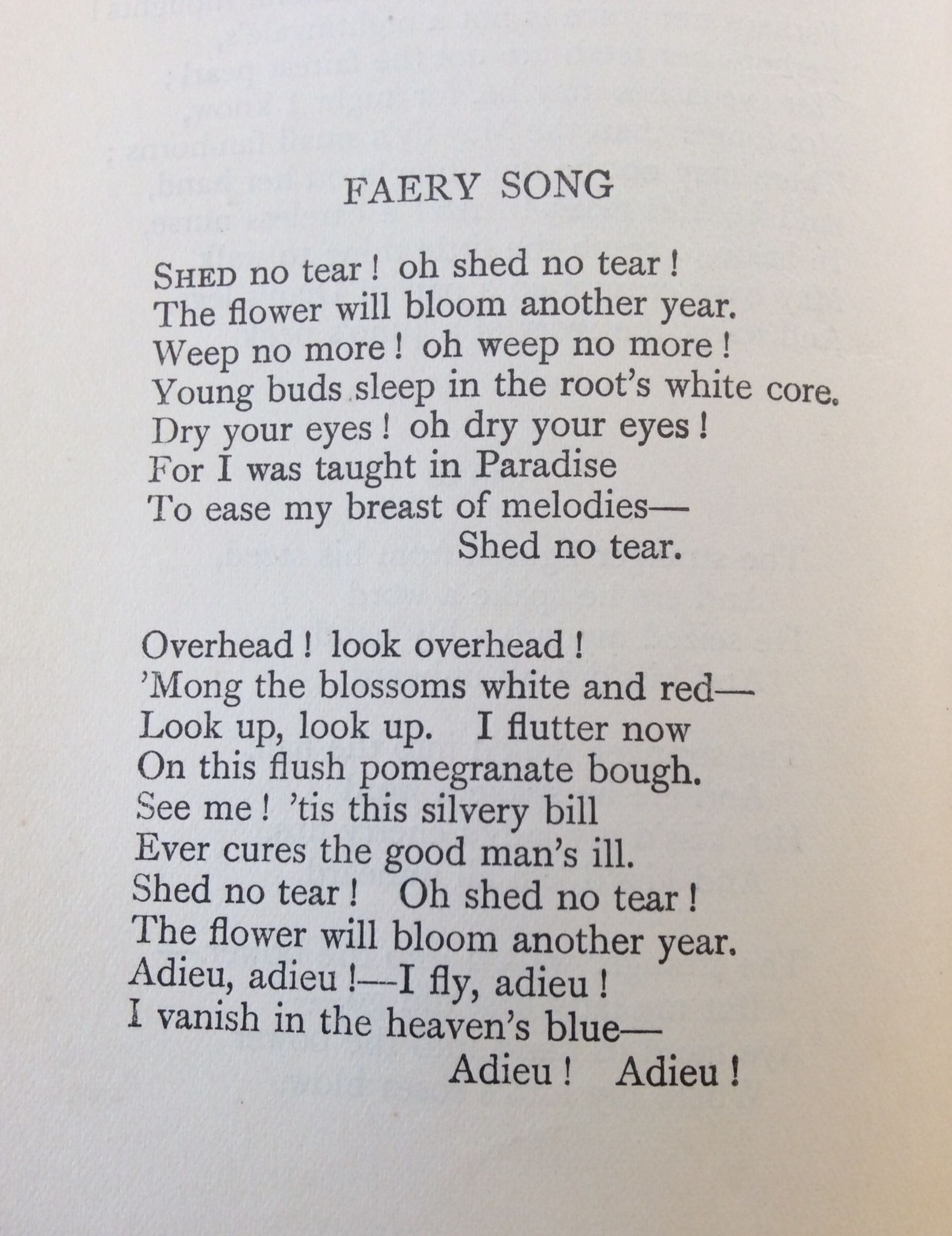 Faery Song John Keat Poetry Word Quote Line By Explanation Of The Poem Ode To Autumn Keats