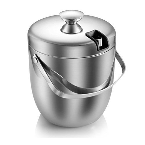 Msk Double Walled Stainless Steel Cooler Ice Bucket 28 L 27 Quart With Tongs And Lid Silver Visit The Image Link More De Ice Tongs Ice Bucket Bucket With Lid