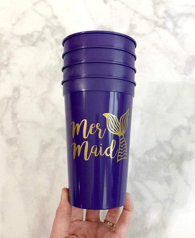 Personalized 22oz Stadium Cups Personalized Mermaid Stadium Cups Personalized Cups Bachelorette Party Favor Bachelorette Party Cups