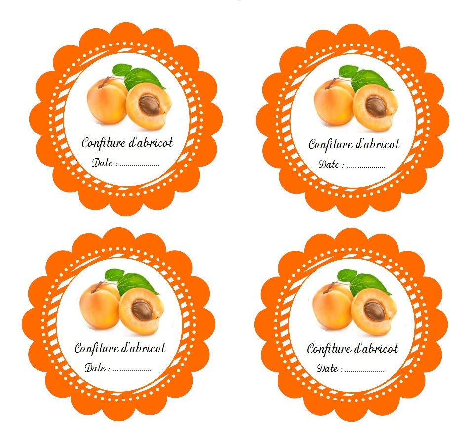 Etiquettes imprimables pour pot de confiture d 39 abricot fait maison t tky confiture abricot - Confiture d abricots maison ...
