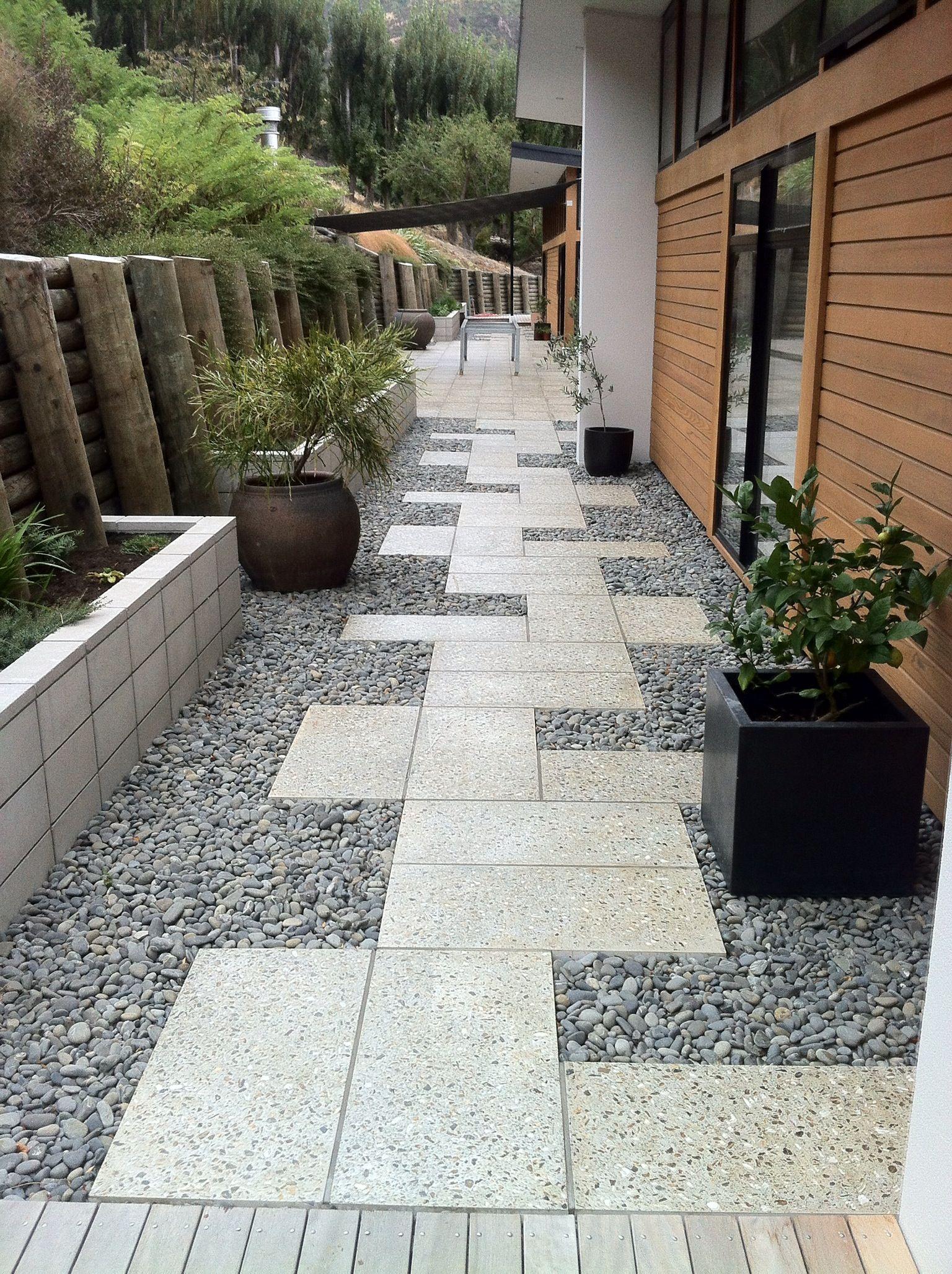 Evergreen Landscape Design Christchurch Small Garden Landscape Small Backyard Landscaping Courtyard Landscaping
