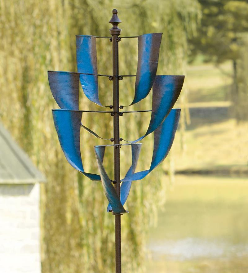 Sapphire Spinner Metal Yard Art CHECK OUT THIS SITE...COOLEST STUFF ...