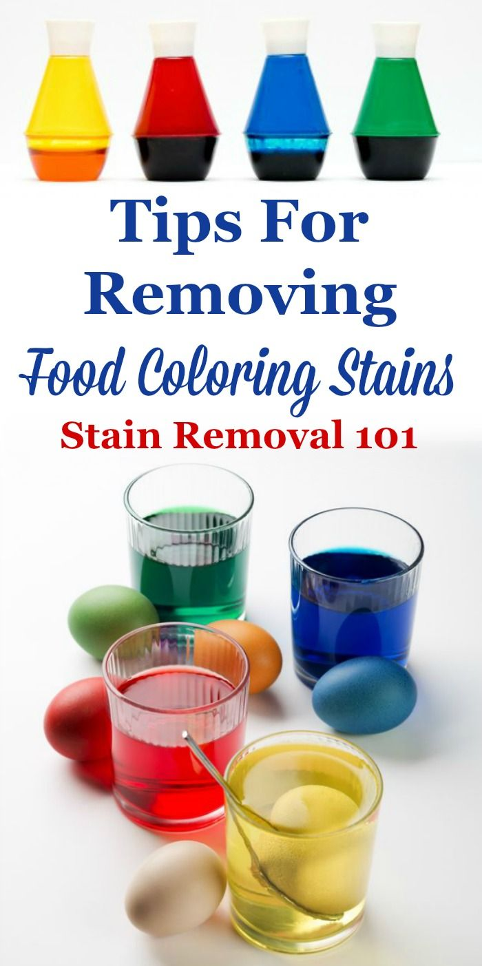 How To Remove A Food Coloring Stain Stain Removal Tips Diy