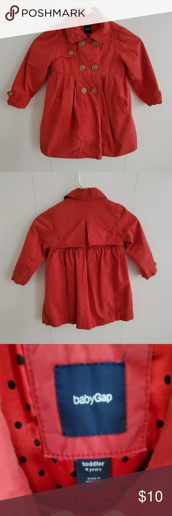 Baby Gap Red Coat Adorable Baby Gap Coat  Perfect