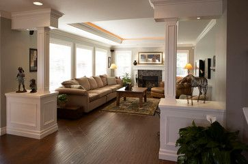 Coquitlam 3 Story Addition Transformation Living Room Divider Room Divider Walls Bamboo Room Divider