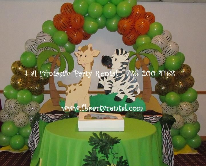 jungle theme baby shower safari balloon decorations pictures