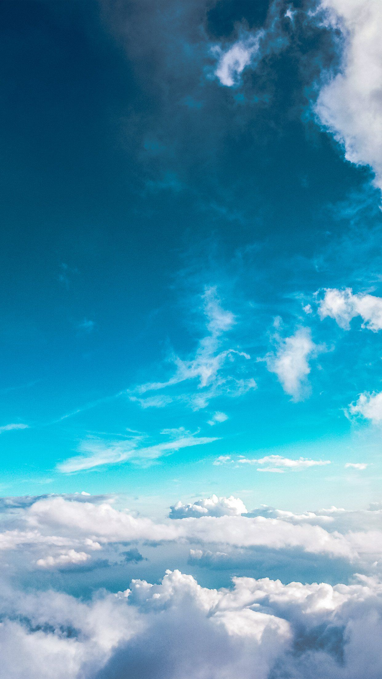 Sky Cloud Fly Blue Summer Sunny iPhone 8 Wallpapers