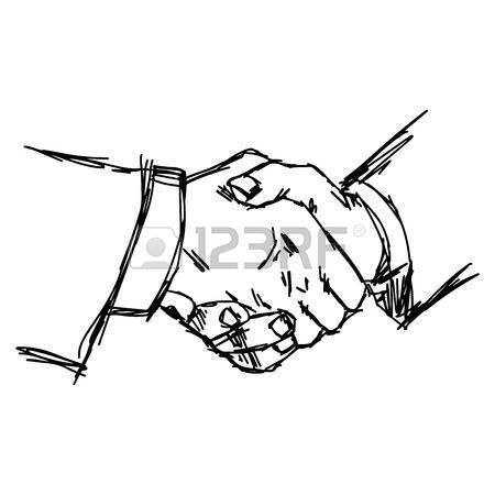 Illustration And Painting Handshake Illustration Vector Doodle Hand