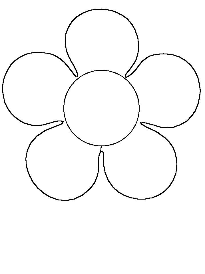Flower Simple-shapes Coloring Pages & Coloring Book | Simple shapes ...