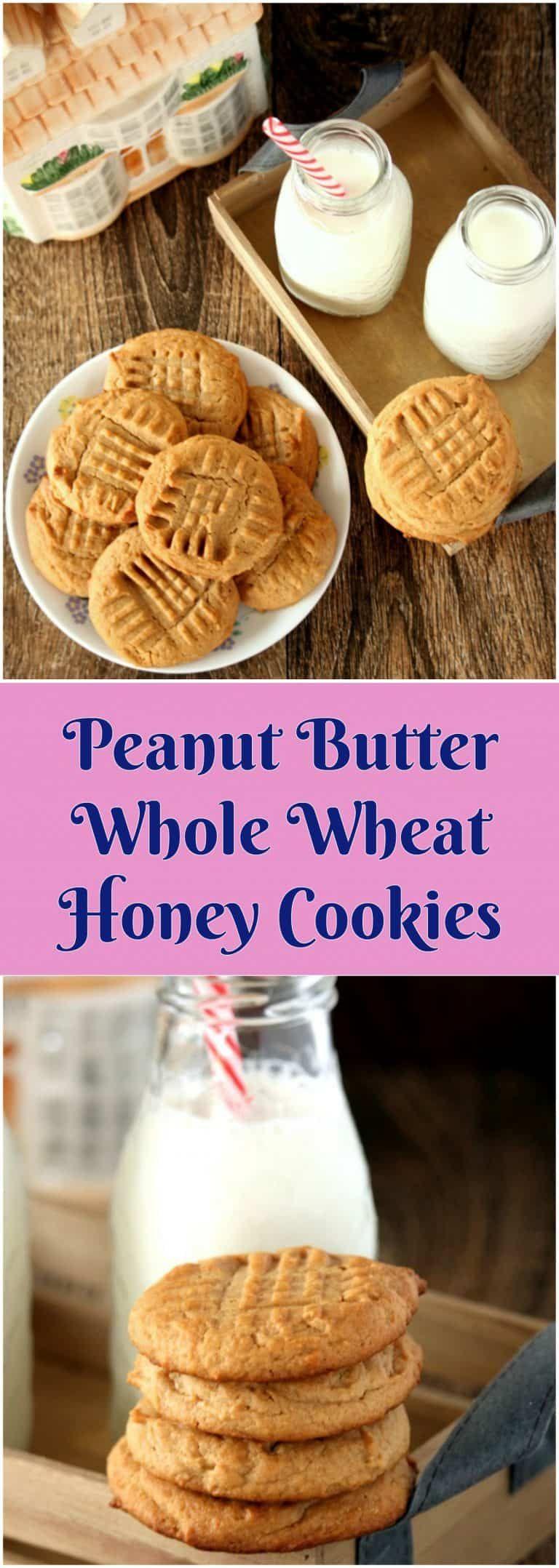 Peanut butter whole wheat honey cookies honey cookies