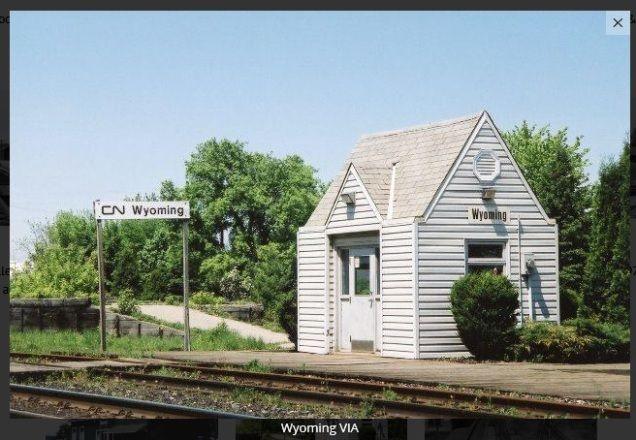WYOMING, Ontario - Canadian National VIA Rail station