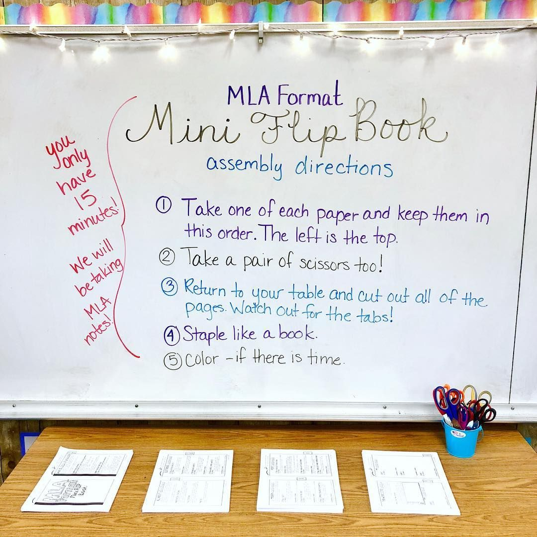 Its mla format day with my sophomores they are