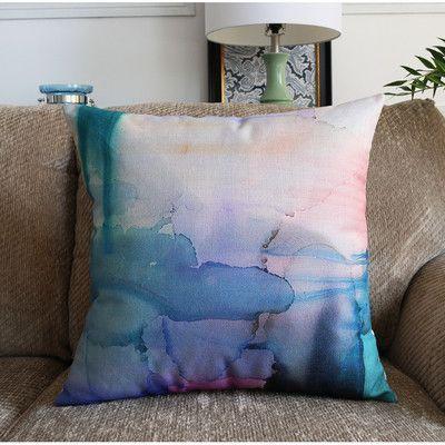 Linen Blend Watercolor cushion cover