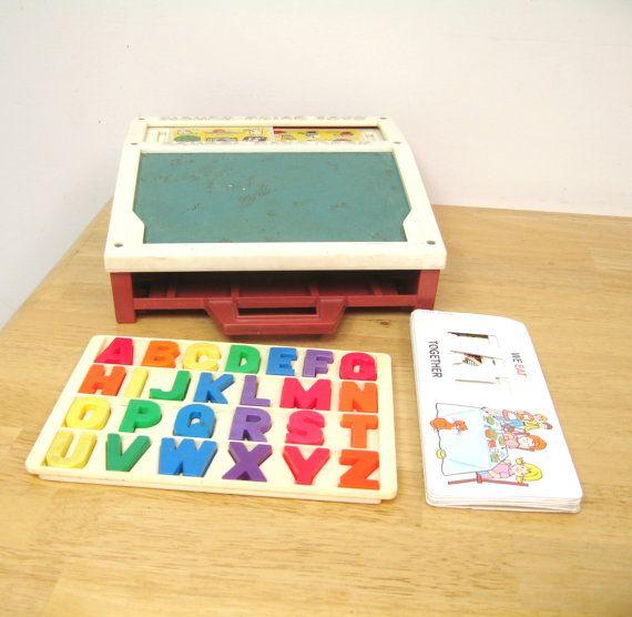 Vintage Fisher Price School Days Desk Vintage Fisher Price Alphabet Magnets Tag Sale