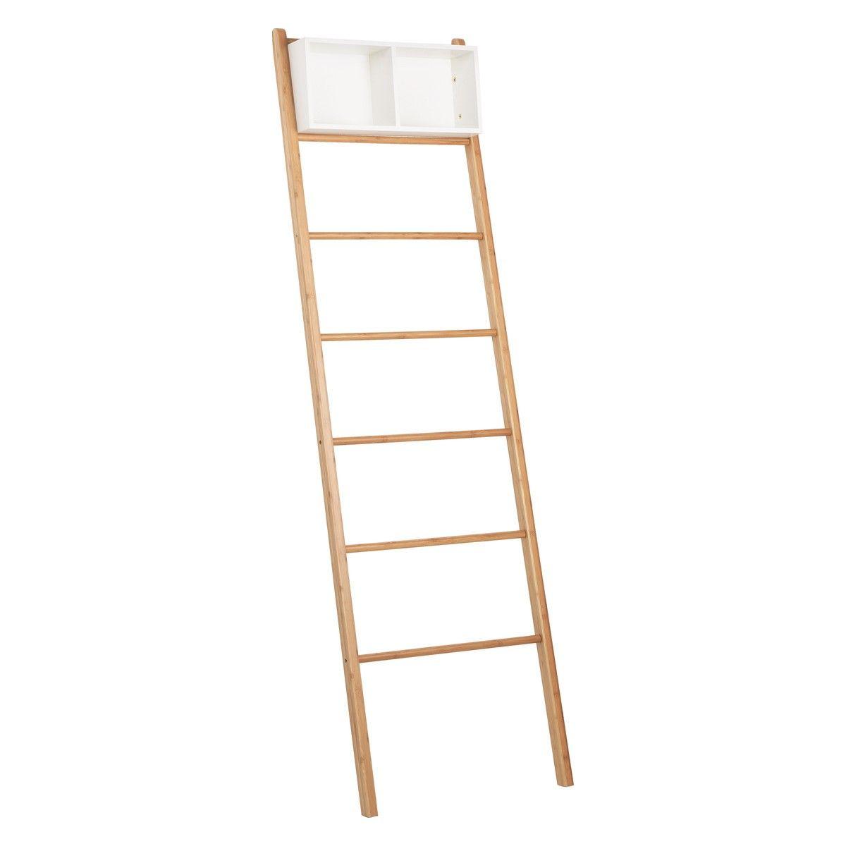 ODIN Bamboo Bathroom Towel Ladder | Buy Now At Habitat UK