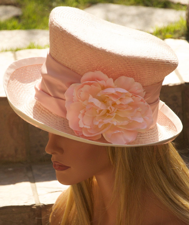 1caef1e07829a Pink Kentucky Derby Hat Cloche Mad Hatter Derby Hat by AwardDesign ...