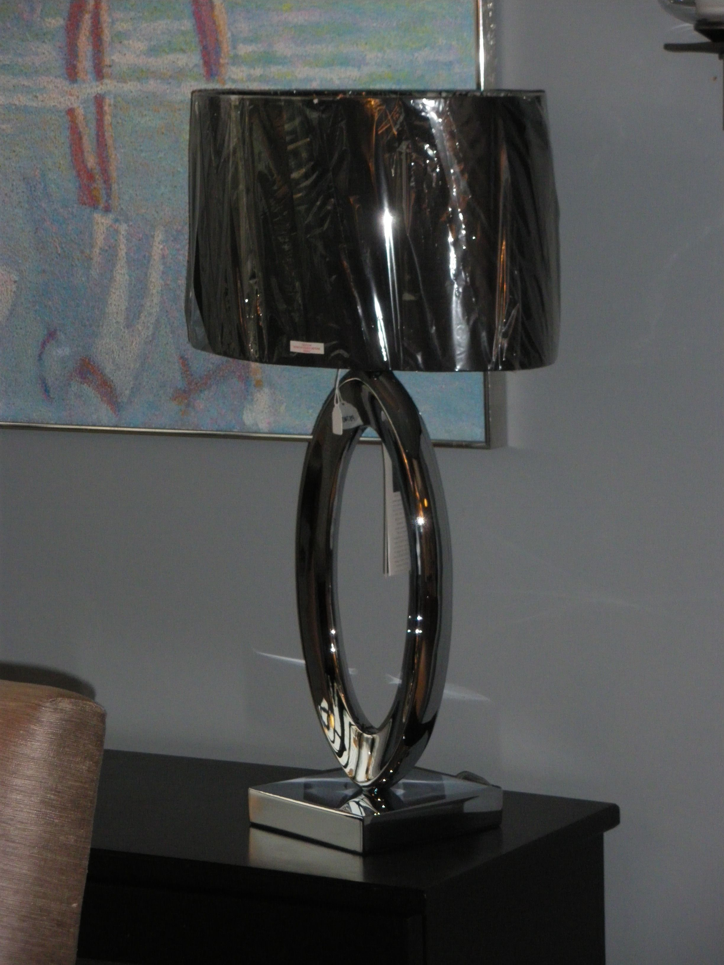 George Kovacs Table Lamp Chrome Finish With Black Linen Shade Www Revcoelectric Com Lamp Linen Shades Table Lamp