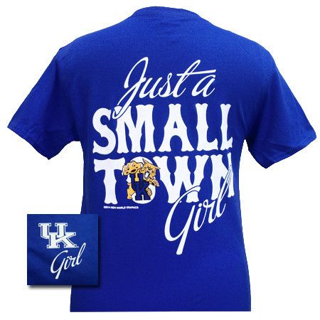 Uk Kentucky Wildcats Small Town Girl Girlie Bright T Shirt