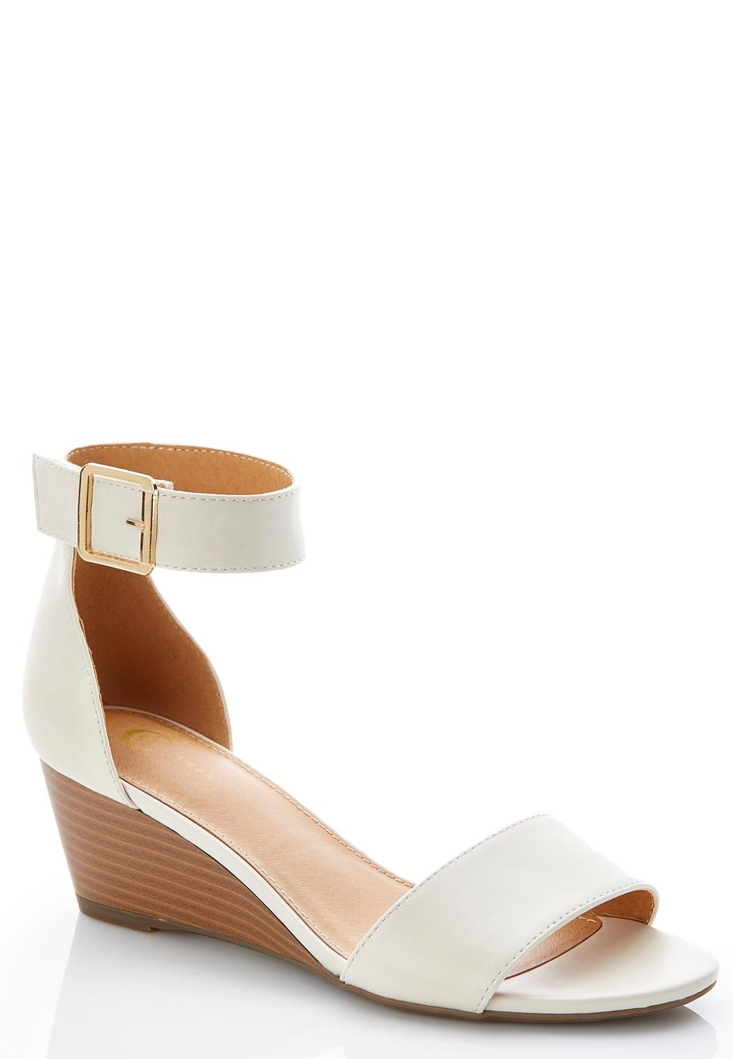 c2ce01509f1 Wide Width Ankle Strap Wedge Heels  catoconfident