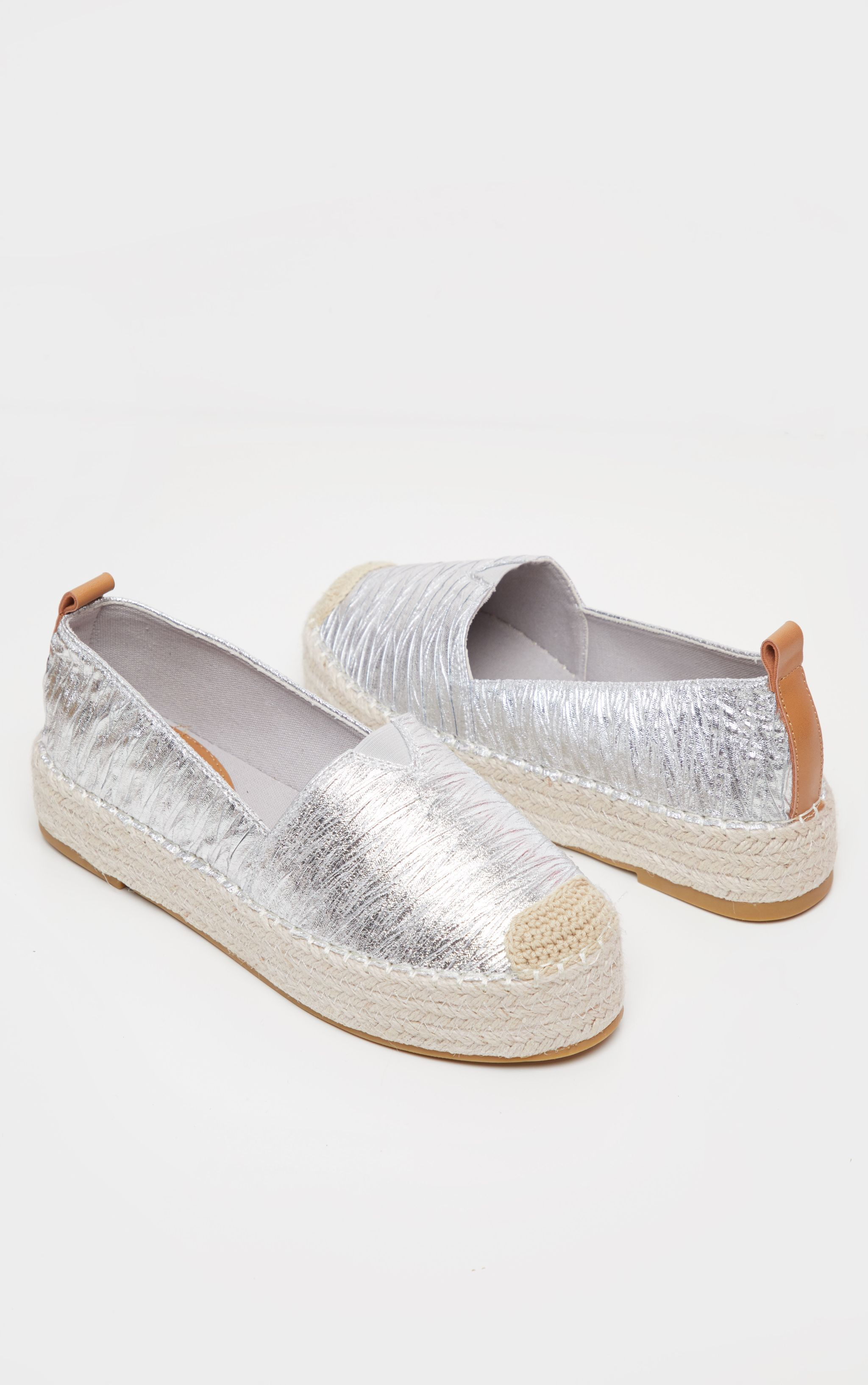 ec41a18ed Rose Gold Dome Studded Espadrille Flatform | Shoes | PrettyLittleThing USA
