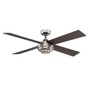 Hampton Bay Kemper Ii 52 In Indoor Liquid Nickel Ceiling Fan With Remote Control Al663a Ln Ceiling Fan Ceiling Fan With Light Ceiling Fan With Remote