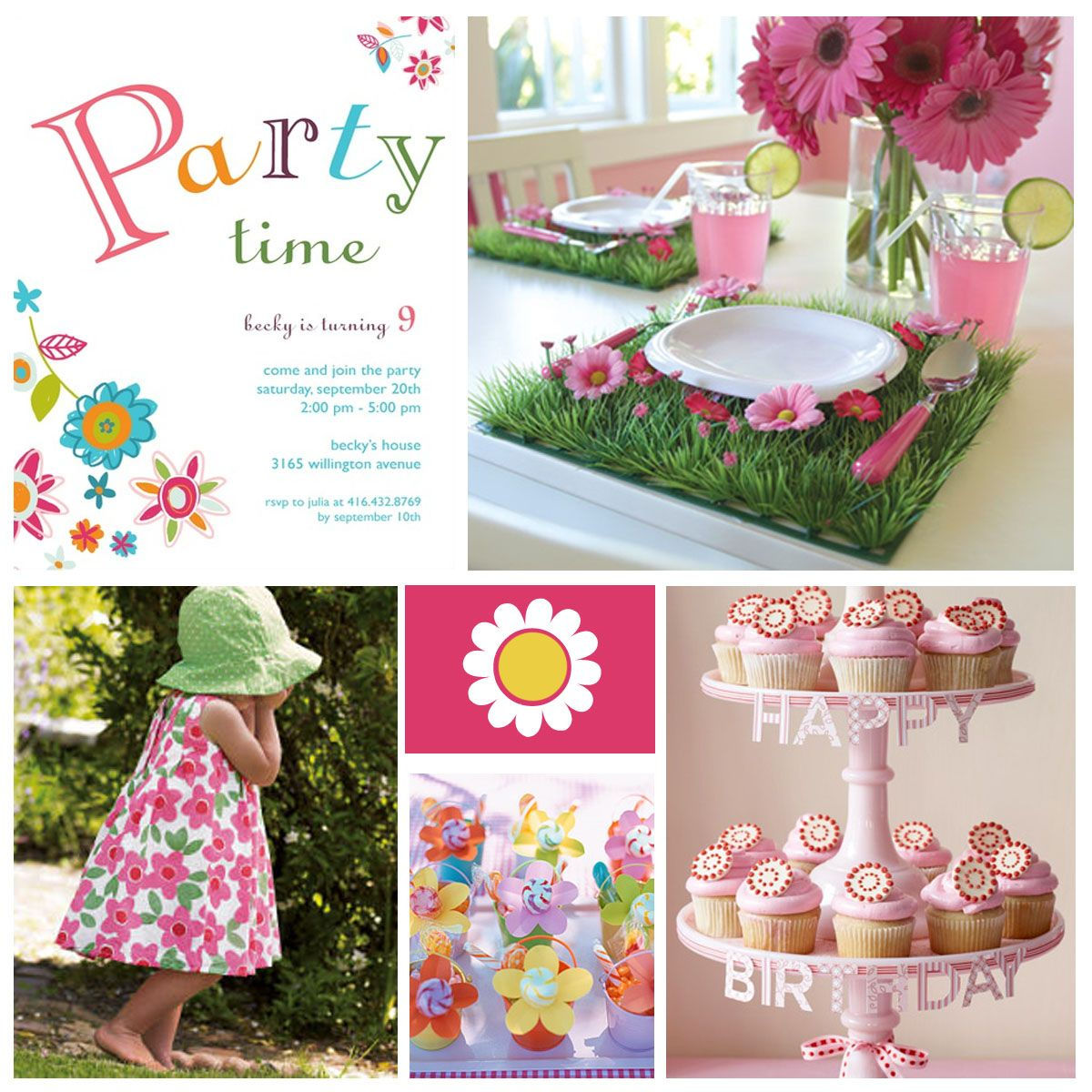 Party Decoration Ideas For Girls Flower Power Girl S Birthday