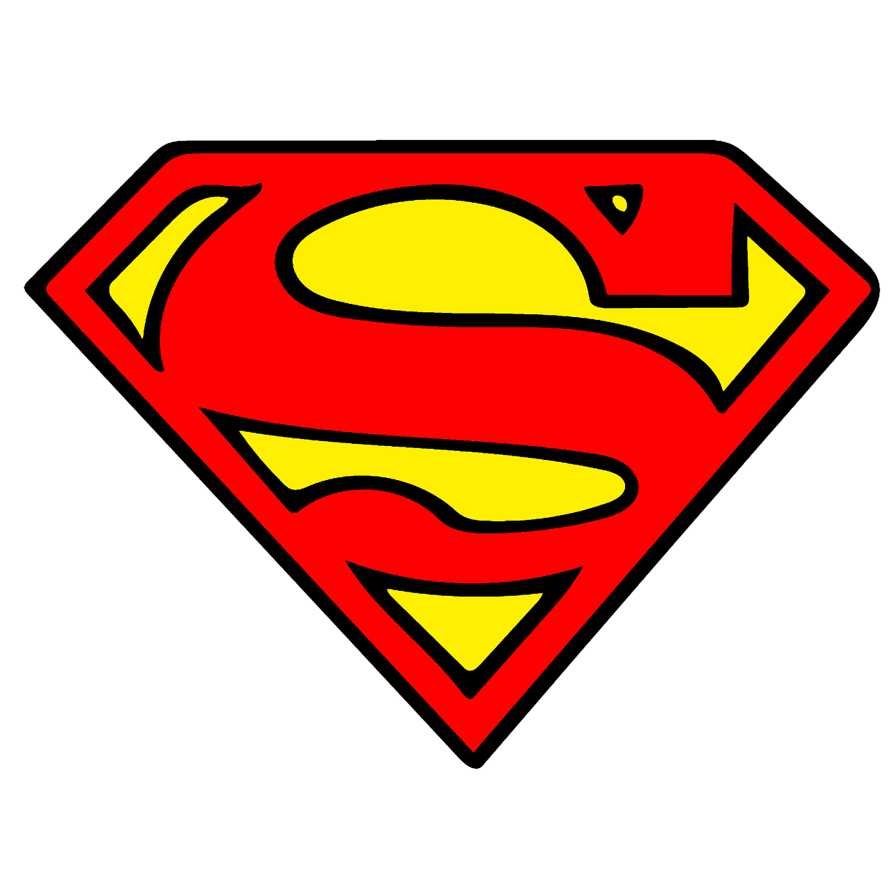 Free Image On Pixabay Super Man Vector Clipart Sticker In 2020 Superman Clipart Superman Logo Superman Drawing