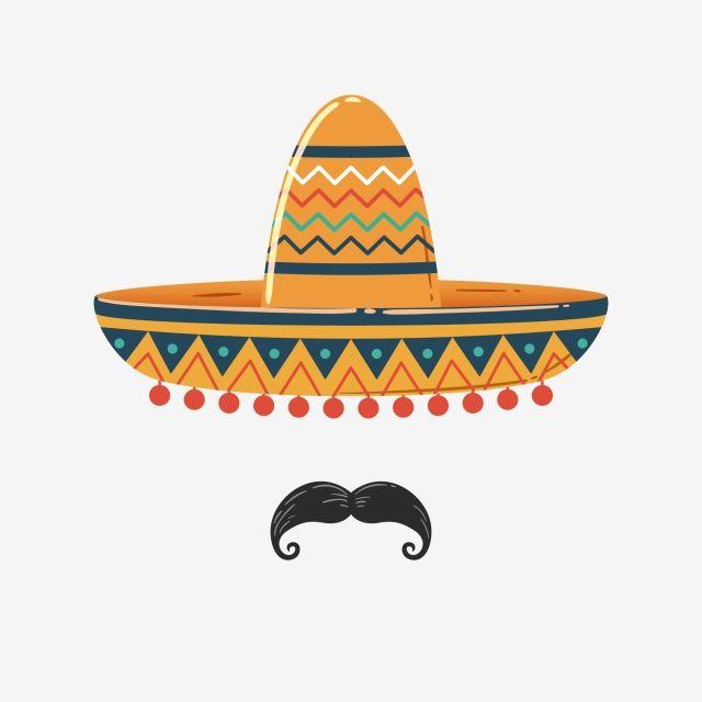 Sombrero Mexicano Com Bigode Sombrero Mexicano Pinturas Mexicanas Dibujos De Sombreros