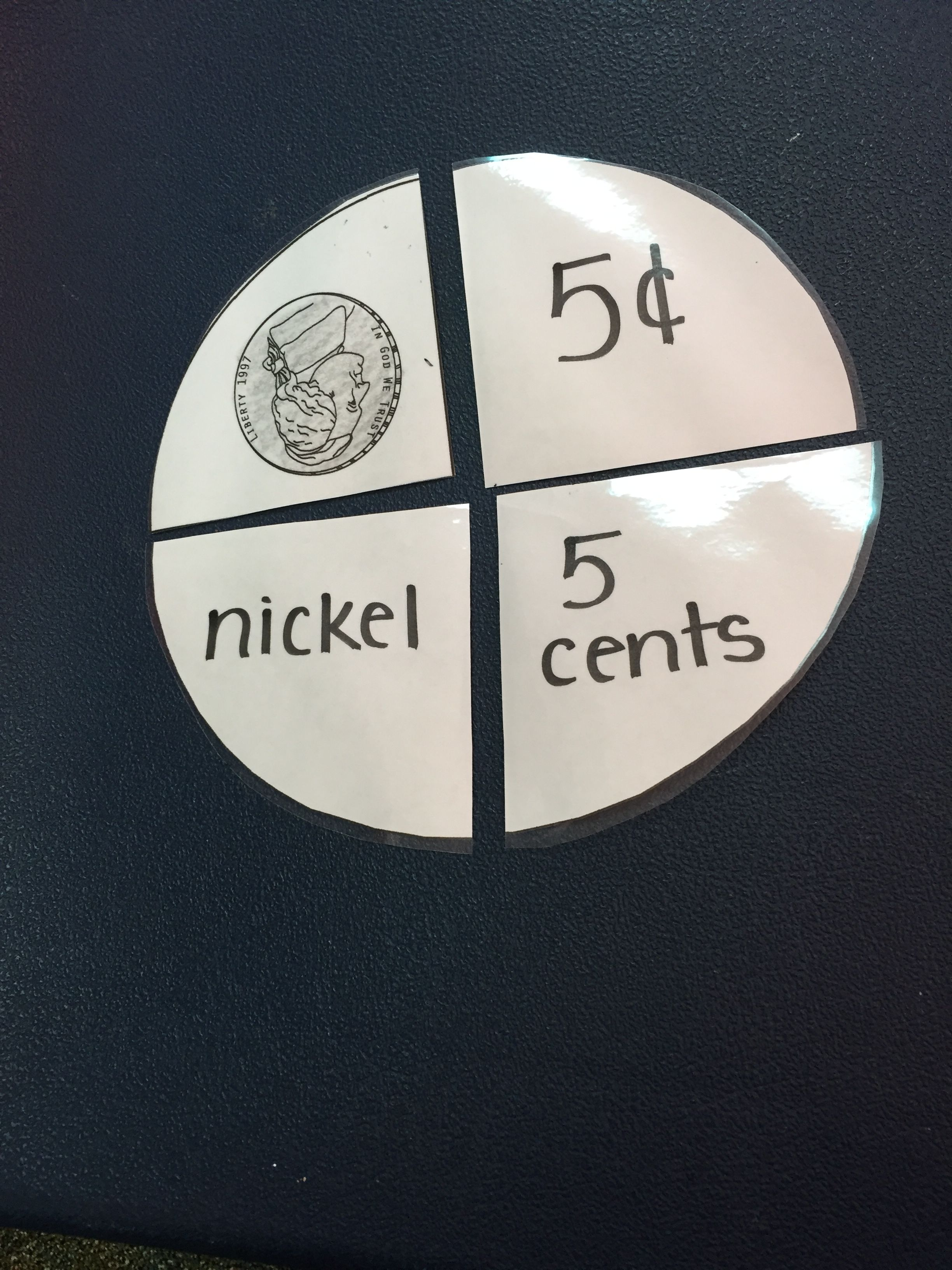 Coin Card For Anchor Chart Nickel With Images