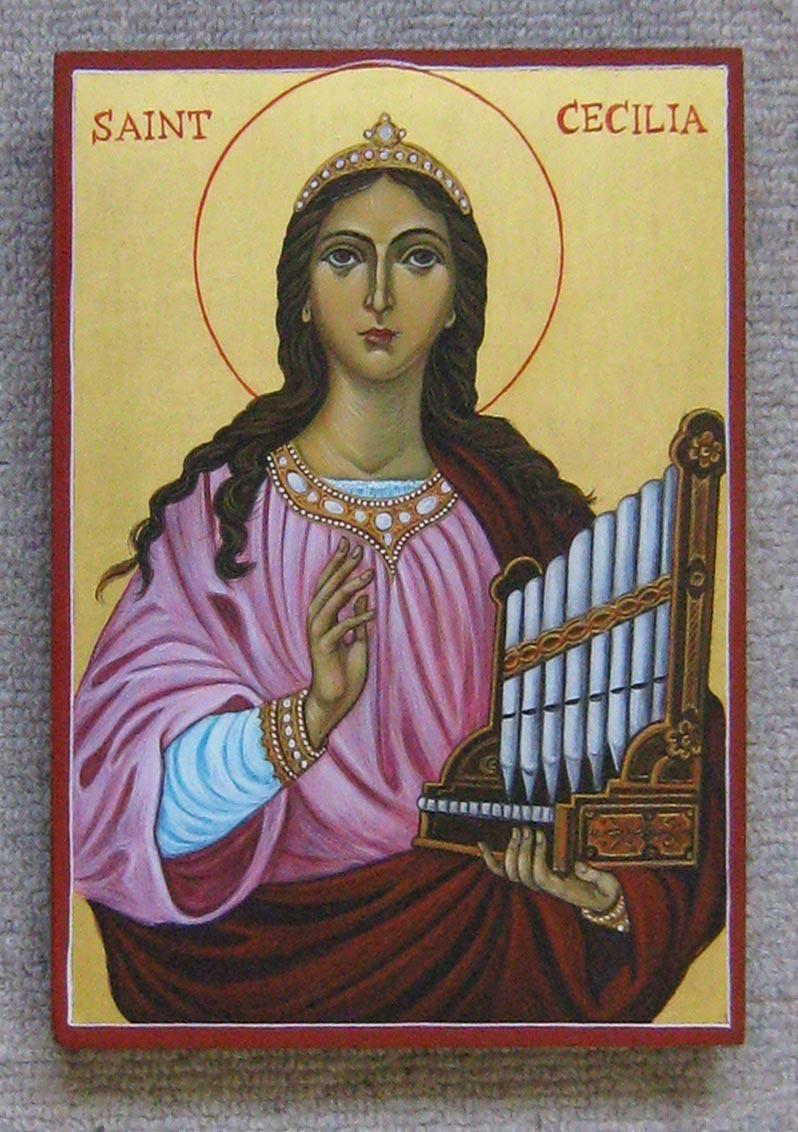St Cecilia St Cecilia Orthodox Icons Saint Costume