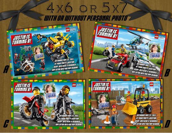 Custom Lego City Birthday Invitation Digital File LEGO STAR WARS