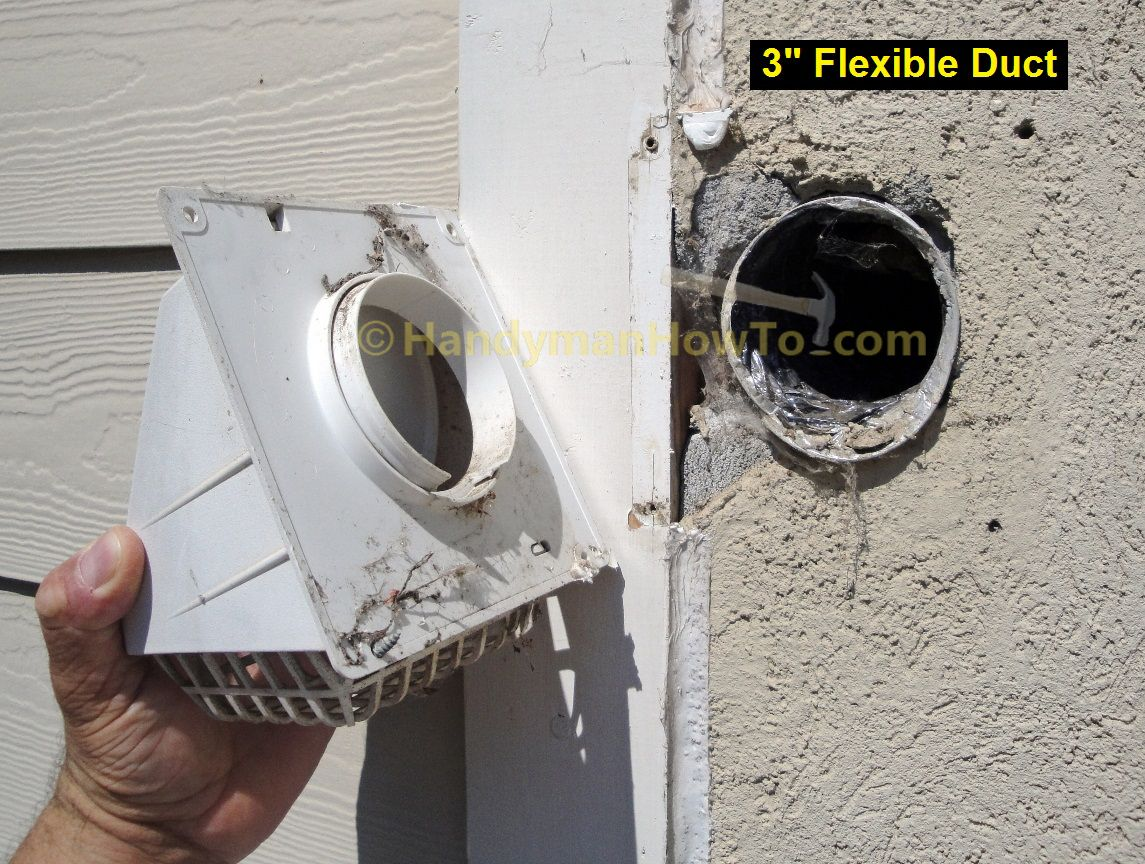Bathroom Vent Fan Installation: Remove the Old 3 inch Vent Cap ...
