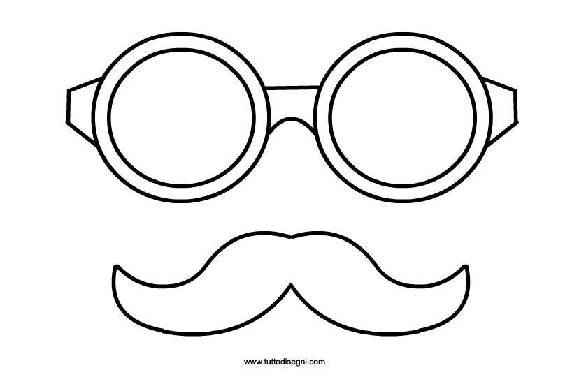 Carnevale Occhiali E Baffi Da Ritagliare Kids Crafts Mustache