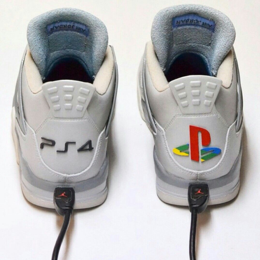 6adf5ab03e6c PlayStation Ⅳ - nike JRDN Ⅳ - USB PORT custom - 20th anniversary edition.