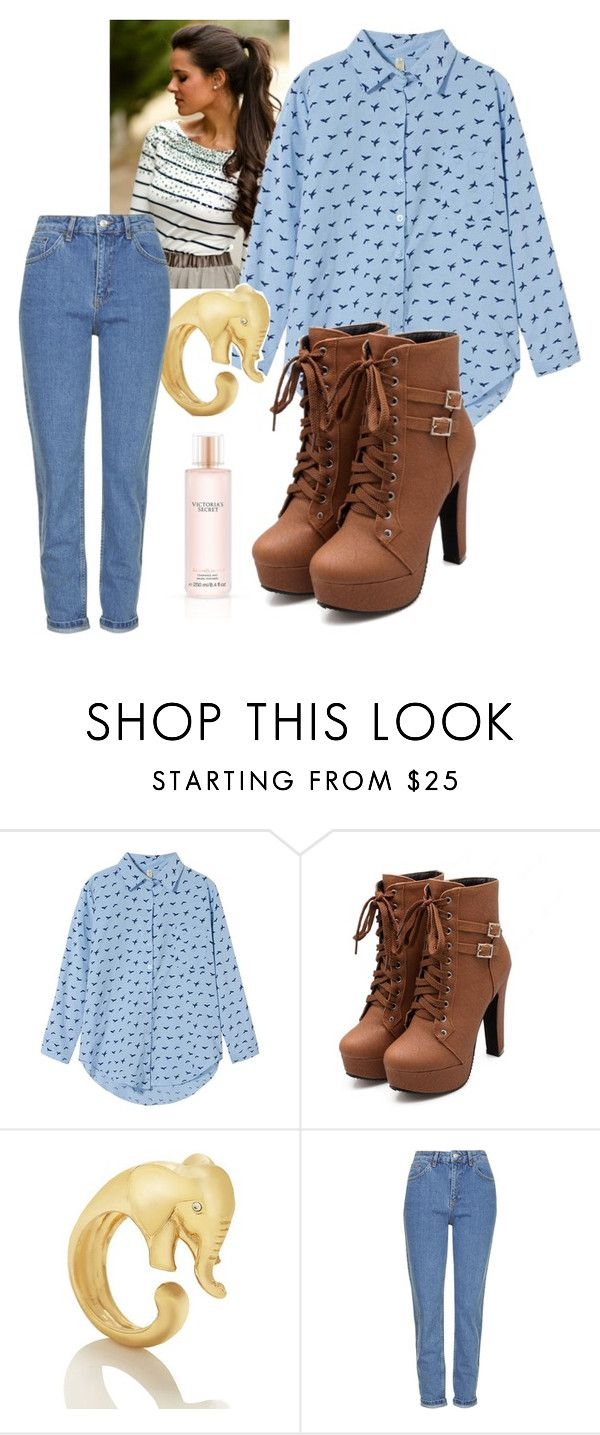 """Untitled #55"" by jmogahed on Polyvore featuring Kate Spade, Topshop and Victoria's Secret"
