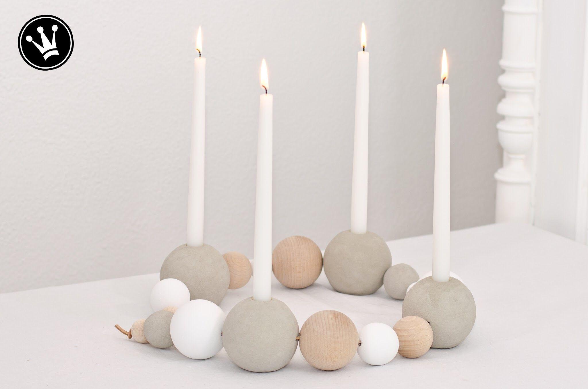 diy holz und betonkugel adventskranz im scandi design aus holz und betonkugeln selber machen. Black Bedroom Furniture Sets. Home Design Ideas