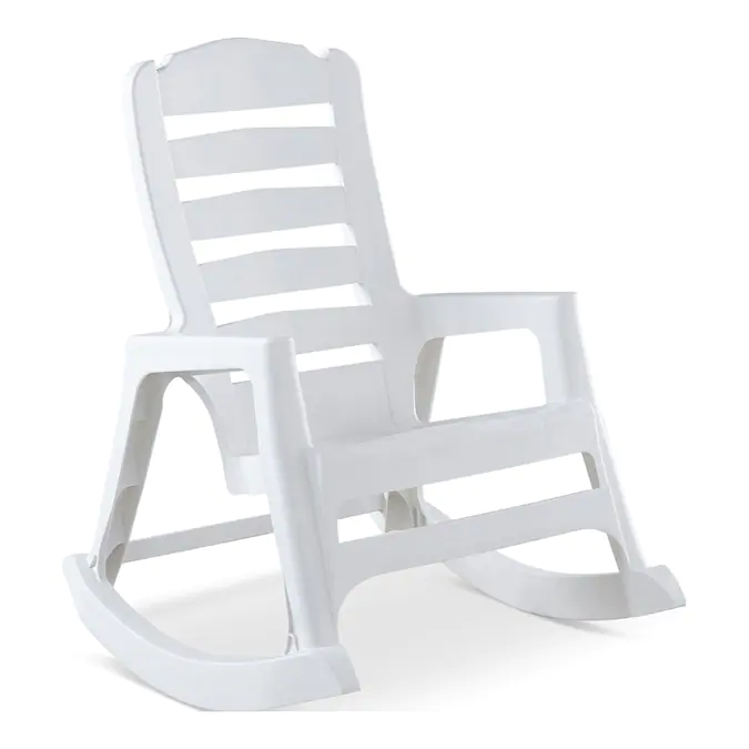 Adams USA White Plastic Rocking Chair(s) with Solid Seat