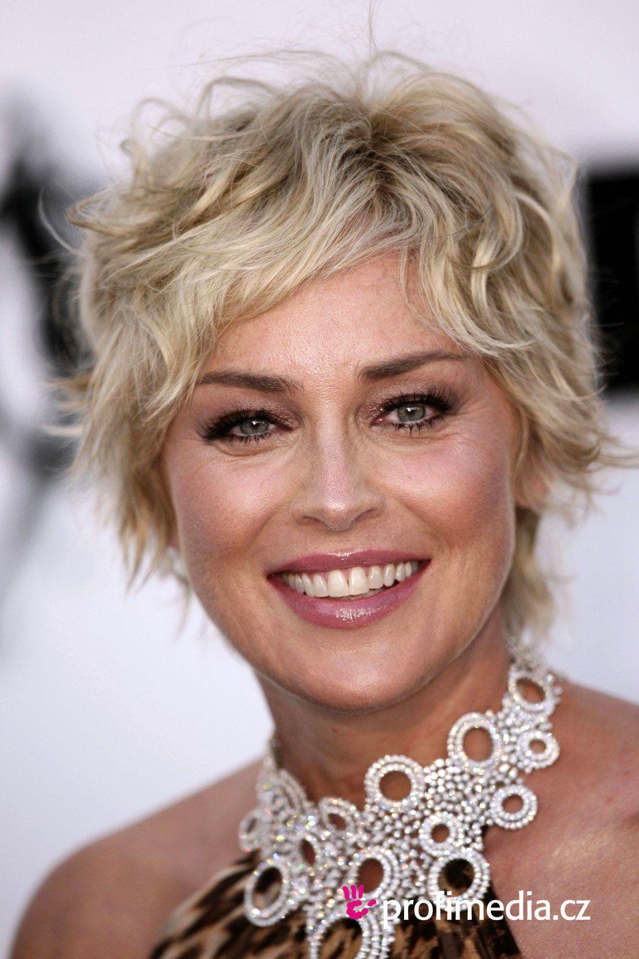 Best Hairstyle For Thin Hair Women  Sharon stone Sharon stone