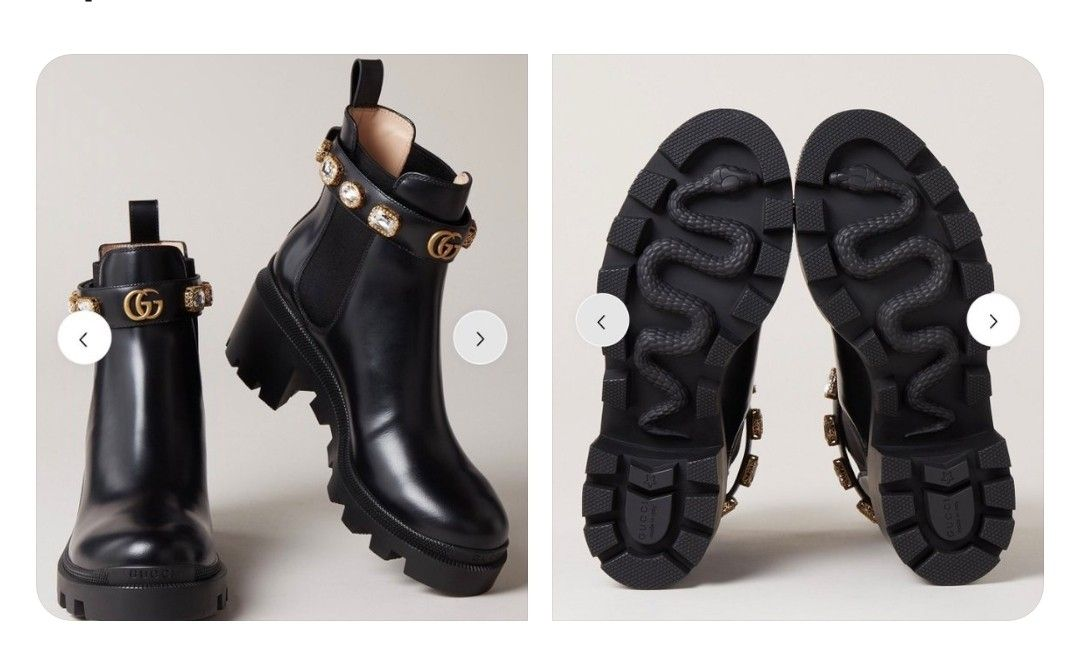 Gucci Leather Ankle Boot With Belt Boots Gucci Boots Leather Ankle Boots