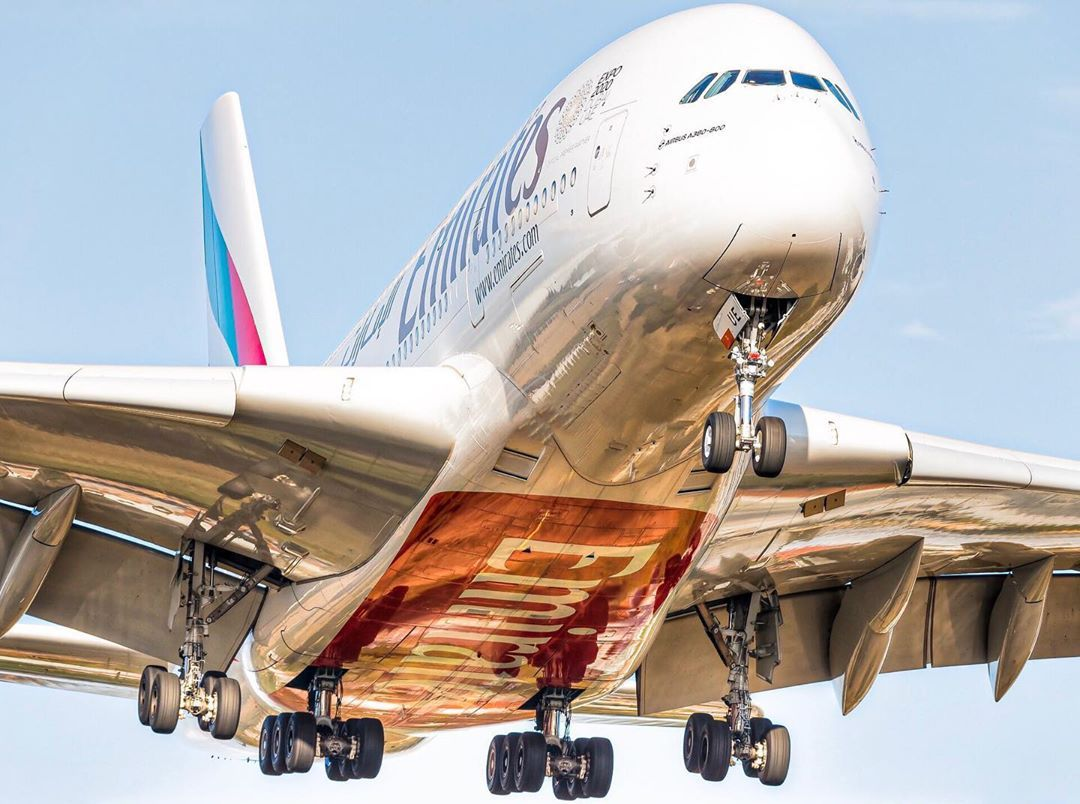 Well Here Is Today S Shot The Emirates Airbus A380 800 On It S