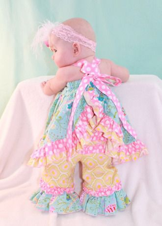 Sophia\'s Open Back Ruffled Baby Dress | Sewing Pattern ...