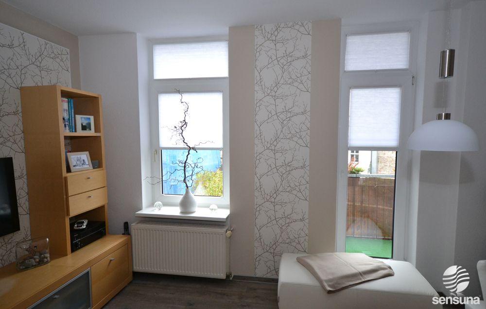 Bei der Raumgestaltung die Fensterdeko nicht vergessen! Hier ein - gardinen fur wohnzimmer modern