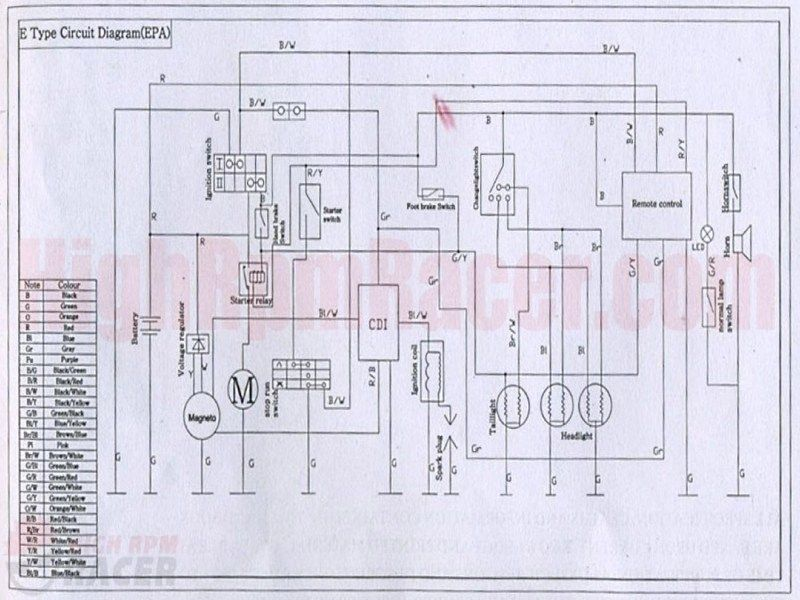 wiring diagram for loncin 110cc  169066 toggle switch